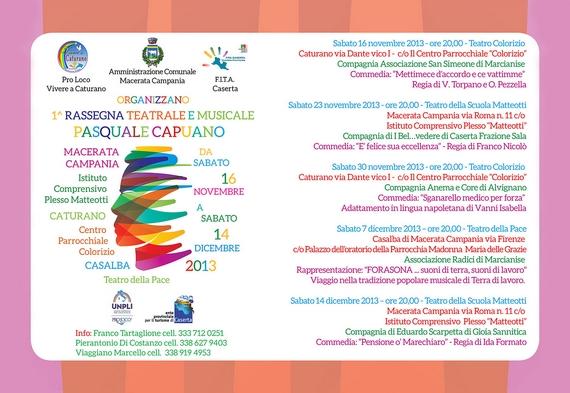 1° Rassegna Teatrale e Musicale Pasquale Capuano