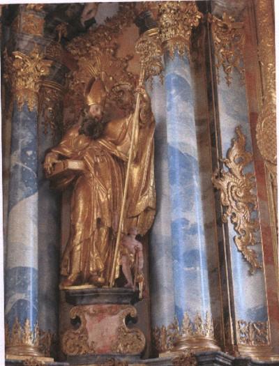 SVIZZERA - S. Martino di Tours sull'altare dell'antica Abbazia Benedettina di Muri