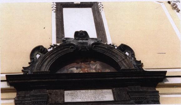 Chiesa di S. Martino Vescovo Macerata Campania - Lapide porta