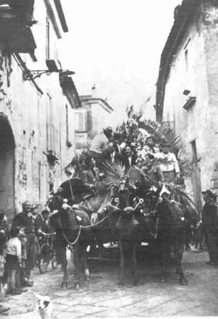 carro di Pastellessa - foto d'epoca