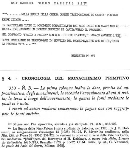 Cronologia del monachesimo primitivo